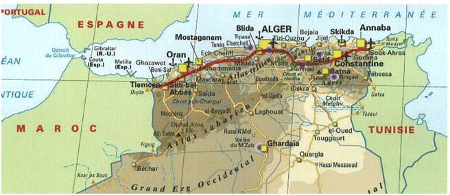 Carte Algerie Autoroute Est Ouest.Aires De Repos Et De Services De L Autoroute Est Ouest Au